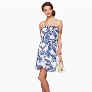 Lilly Pulitzer Fallin In Love Strapless Dress